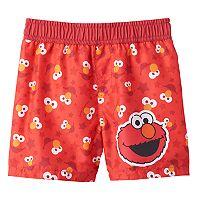 Baby Boy Sesame Street Elmo Swim Shorts