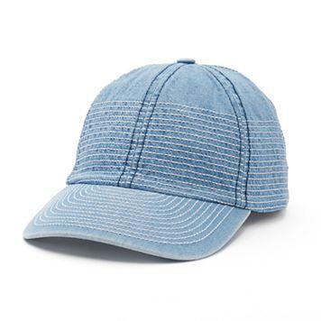 Women's Mudd® Stitched Denim Baseball Hat