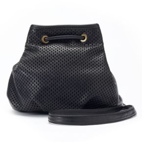 madden NYC Piper Mesh Drawstring Bucket Bag