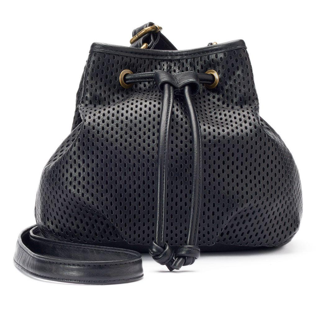 madden NYC Piper Mesh Drawstring Bucket Bag