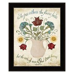 'Flower Fades' Framed Wall Art