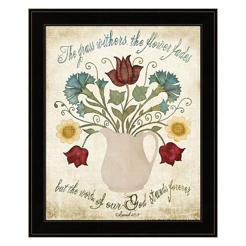 """Flower Fades"" Framed Wall Art"