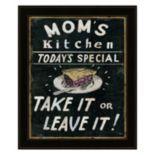 """Mom's Kitchen"" Framed Wall Art"