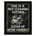 """""""Self Cleaning Kitchen"""" Framed Wall Art"""