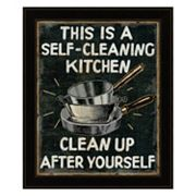 'Self Cleaning Kitchen' Framed Wall Art