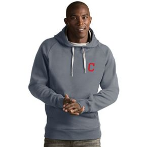 Men's Antigua Cleveland Indians Victory Pullover Hoodie