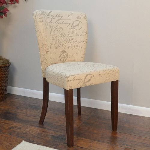 Brea Script Pattern Accent Chair