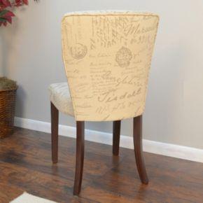 Brea Script Pattern Accent Chair
