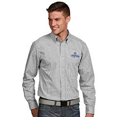 Men's Antigua Chicago Cubs 2016 World Series Champions Button-Down Shirt