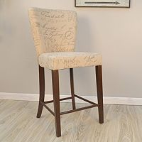 Brea Script Pattern Counter Stool