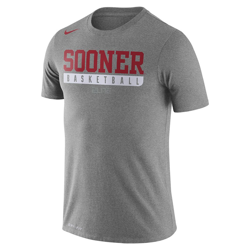 Men's Nike Oklahoma Sooners Basketball Practice Dri-FIT Tee