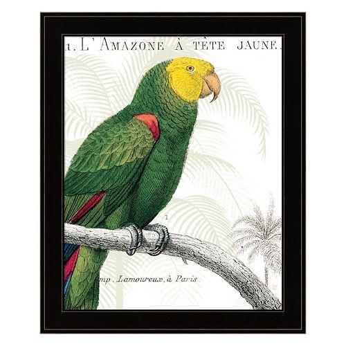Parrot Botanique I Framed Wall Art
