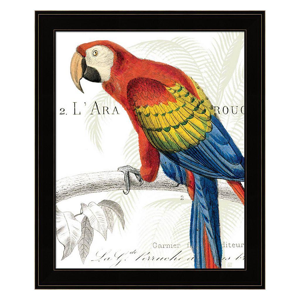 Parrot Botanique II Framed Wall Art