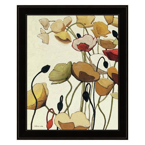 Pavots Ondule I Framed Wall Art