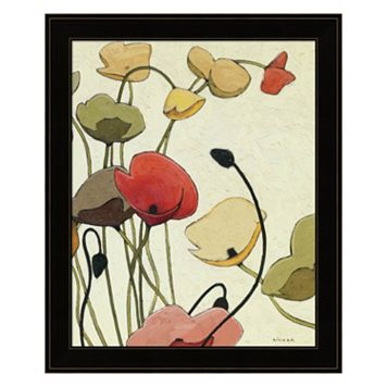 Pavots Ondule II Framed Wall Art
