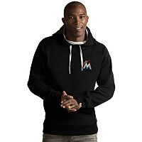 Men's Antigua Miami Marlins Victory Pullover Hoodie