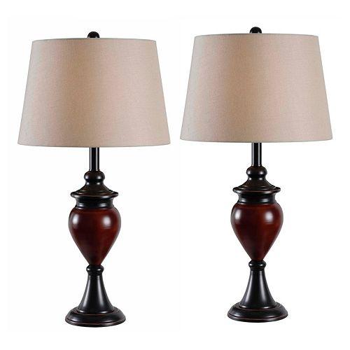 Kenroy Home Elliot Table Lamp 2-piece Set