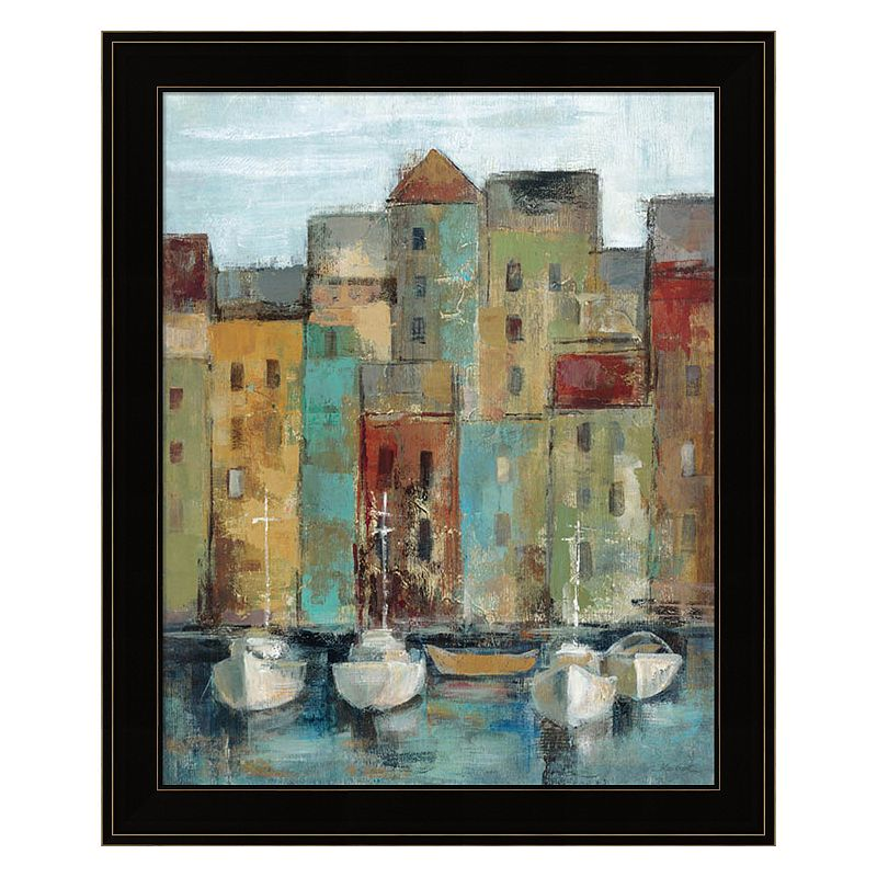Old Town Port I Framed Wall Art, 19X23