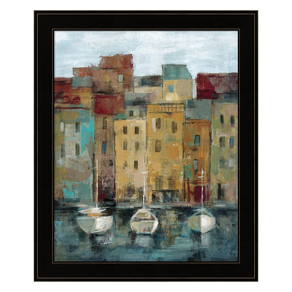 Old Town Port II Framed Wall Art