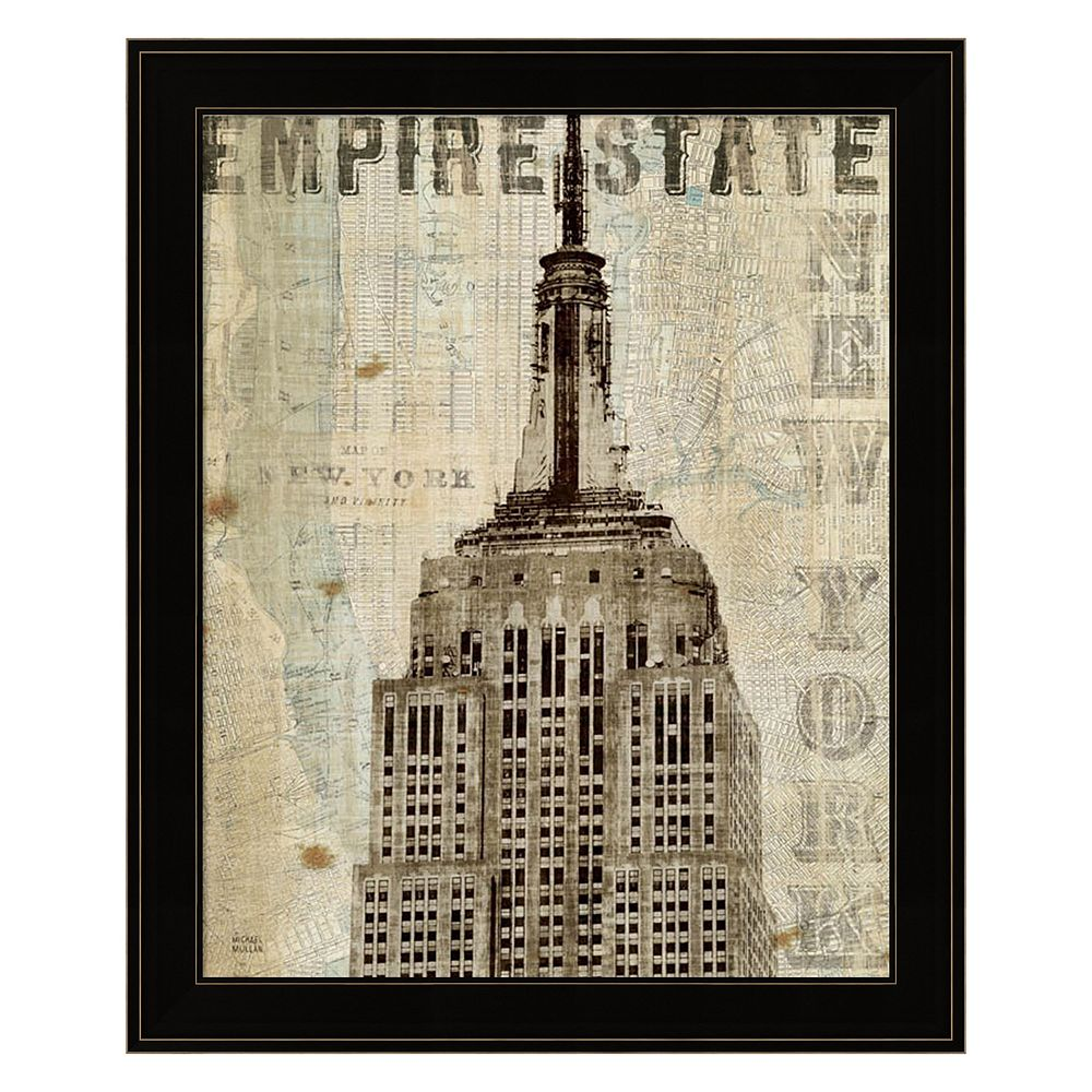 Vintage NY Empire State Building Framed Wall Art