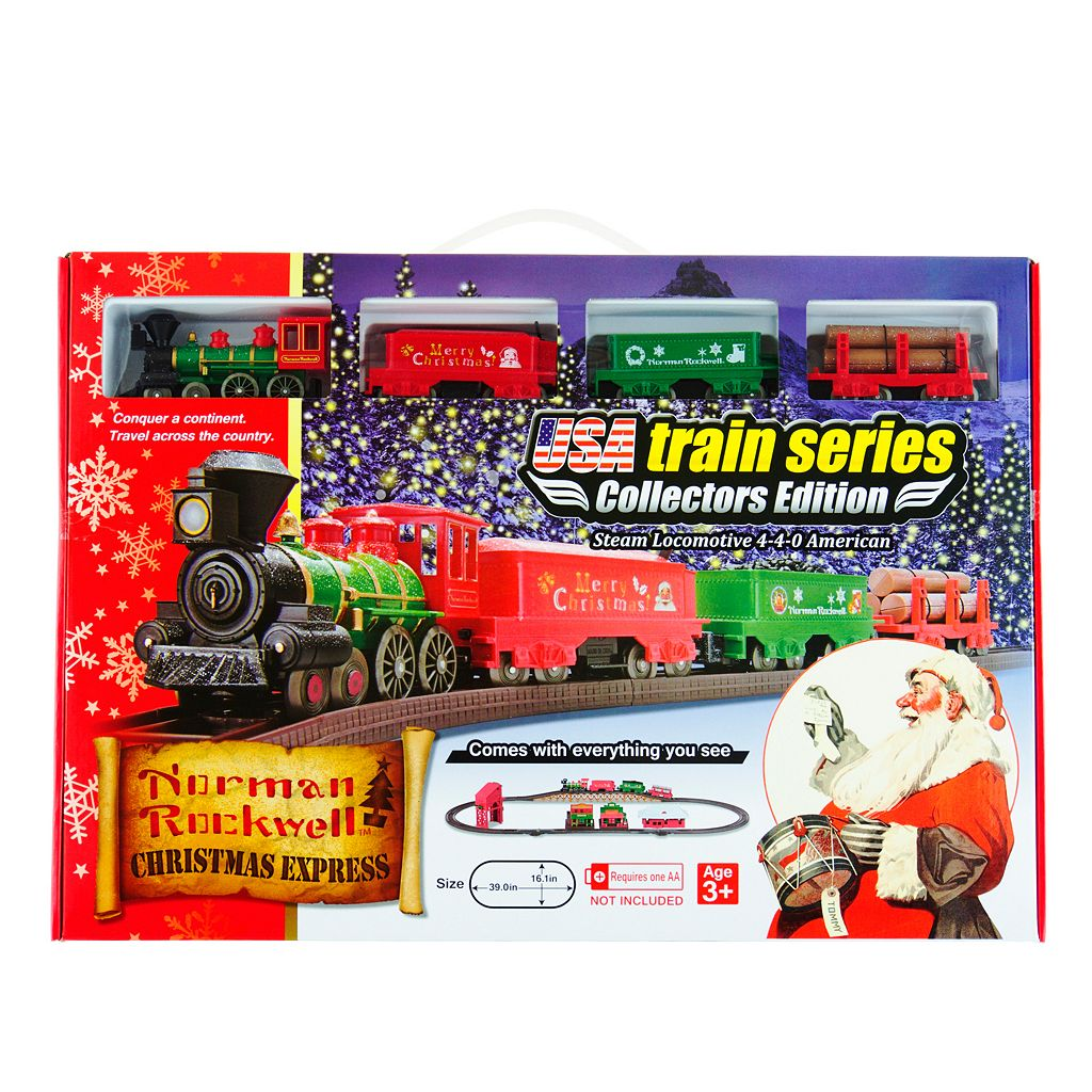 LEC Norman Rockwell Christmas Steam Locomotive Train Set