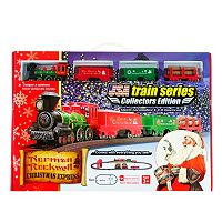 LEC Norman Rockwell Christmas Steam Locomotive Train Set