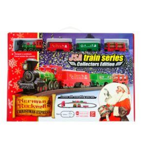 'LEC Norman Rockwell Christmas Steam Locomotive Train Set