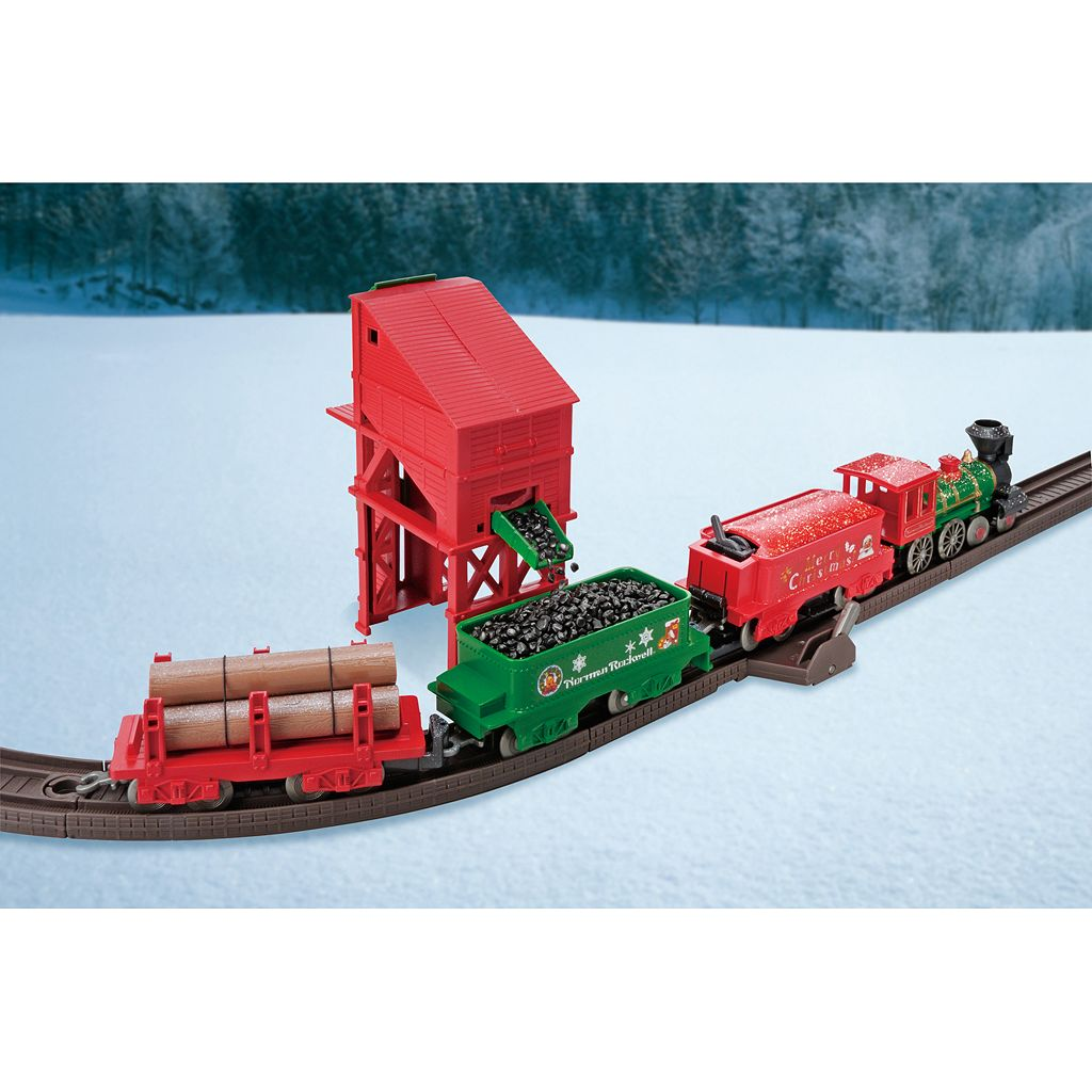 'LEC Norman Rockwell Christmas Steam Locomotive Train Set