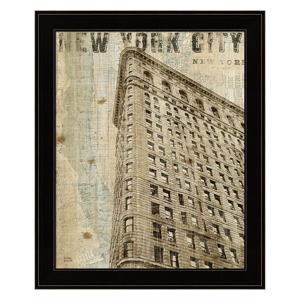 Vintage NY Flat Iron Framed Wall Art