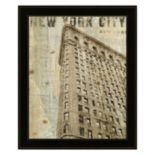 Vintage NY Flat Iron Framed Wall Art