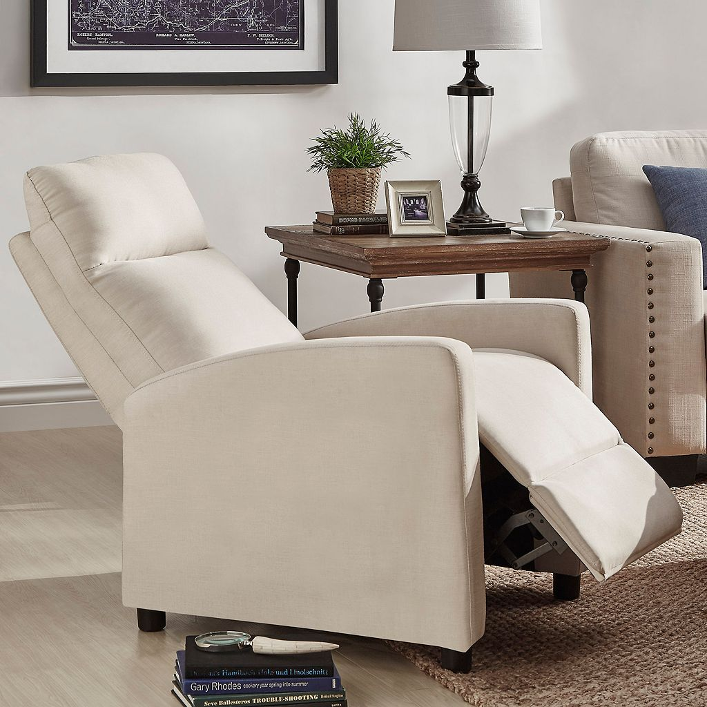 HomeVance Talocott Push Back Recliner Arm Chair