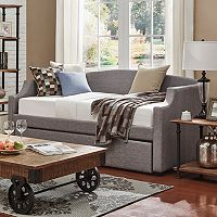 HomeVance Wallen Track Arm Daybed & Trundle