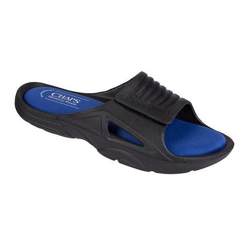 455cfa48b511 Men s Chaps Memory Foam Slide Sandals