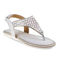 Laura Ashley Girls' Rhinestone Slingback Sandals