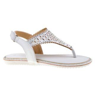 Laura Ashley Girls' Rhinestone Slingback Sandals