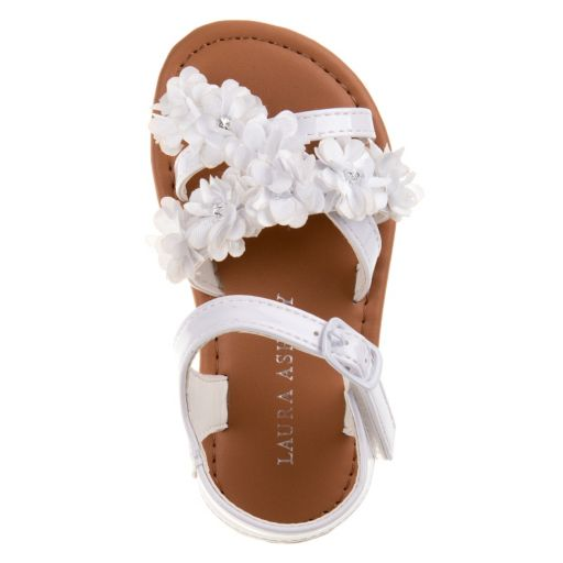 Laura Ashley Toddler Girls' Ankle-Cuff Flower Sandals