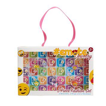 Girls 5-16 Emoji Acrylic Jewelry Set
