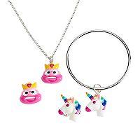 Girls 5-16 Emoji 4 pc Jewelry Set