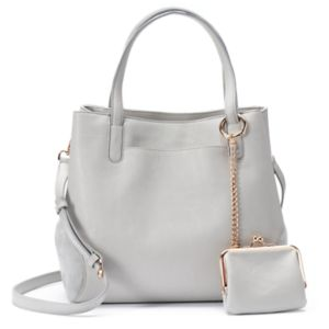 LC Lauren Conrad Lili Large Frame Tote with Coin Purse