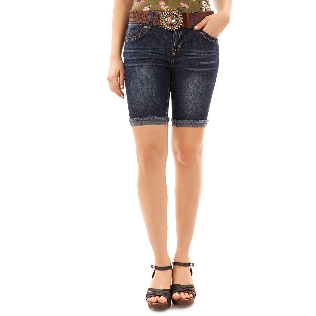 Juniors' Wallflower Luscious Curvy Bermuda Jean Shorts