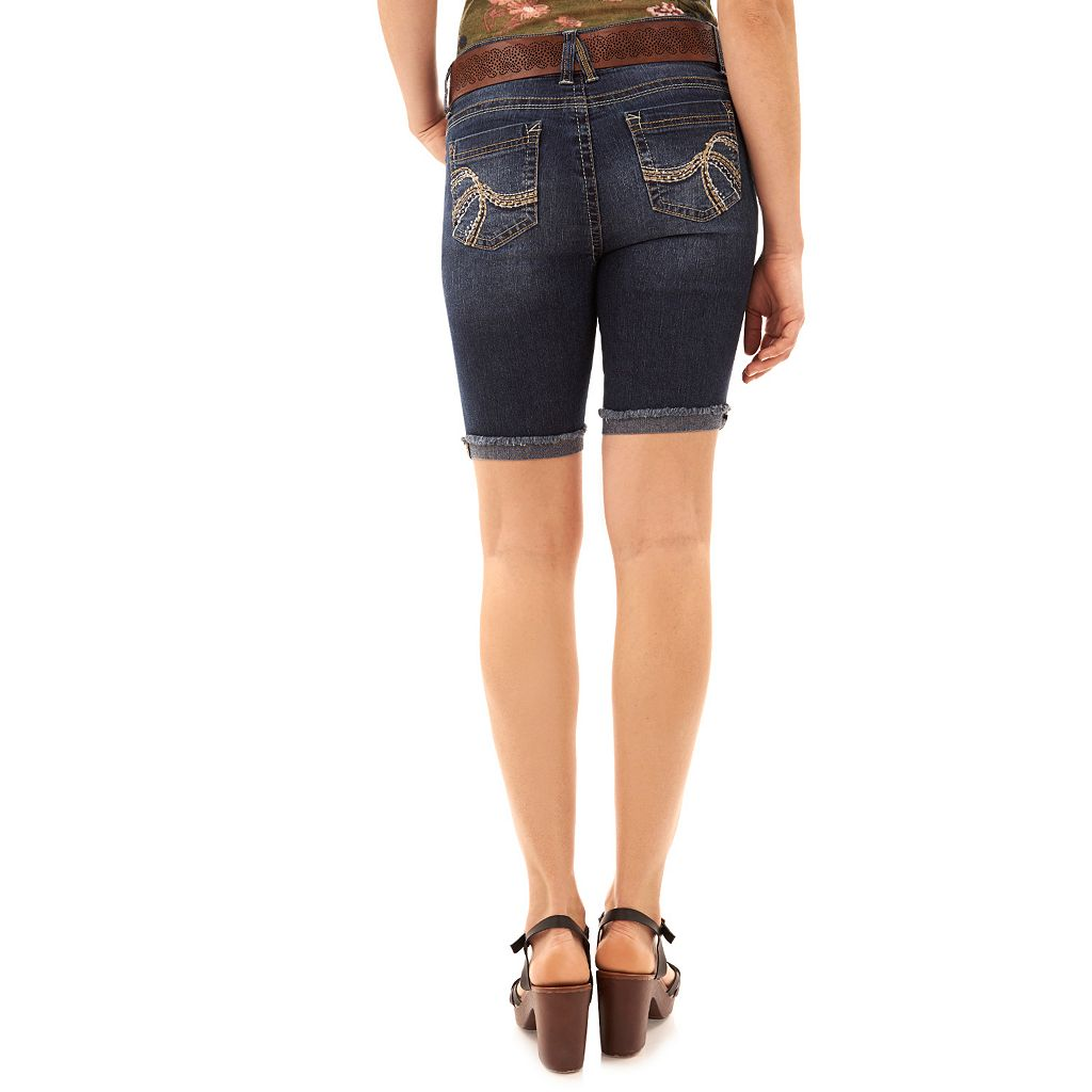 Juniors' Wallflower Luscious Curvy Bermuda Jean Shorts