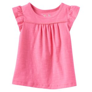 Baby Girl Jumping Beans® Pom Slubbed Tee