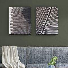 Madison Park Palm Fronds Box Wall Art 2 pc Set