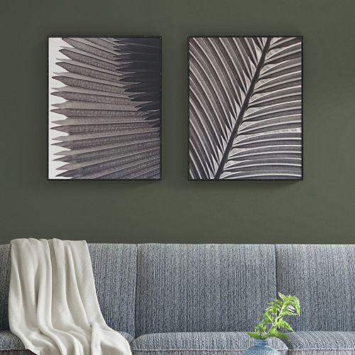 Madison Park Palm Fronds Box Wall Art 2-piece Set