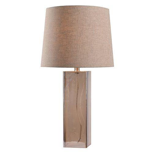 Kenroy Home Blake Glass Rectangle Table Lamp