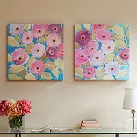Madison Park Bright Florals Canvas Wall Art 2-piece Set