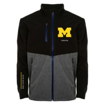 Men's Franchise Club Michigan Wolverines Fusion Softshell Jacket