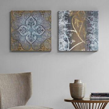 Madison Park Velvet Impressions Canvas Wall Art 2-piece Set