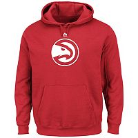Men's Majestic Atlanta Hawks Tek Patch Hoodie