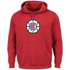 Men's Majestic Los Angeles Clippers Tek Patch Hoodie